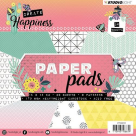 Studio Light -  Paper Pad - Create Happiness nr 111