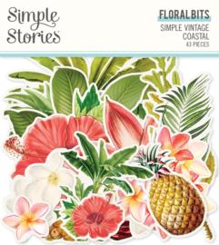 Simple Stories - Simple Vintage Coastal - Floral Bits (12718) 43 stuks