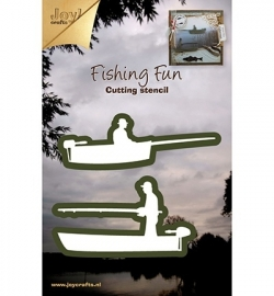 Joy!crafts - Cutting stencil -  visser in bootje (2st)