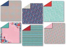 Hot off the Press -   The Little Things Double-Sided Scrapbooking Papers -30,5 x 30,5 cm
