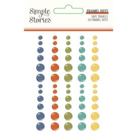 Simple Stories  -  Safe Travels Enamel Dots (14823)