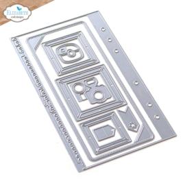 Elizabeth Craft Designs - Planner Essentials 39 - Torn Paper Page With Frames