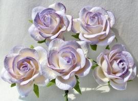 Trellis Roses - 2-tone Lilac/White