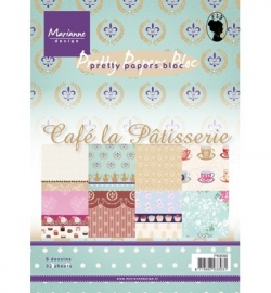 Marianne Design - Pretty Papers Bloc - Café la Pâtisserie