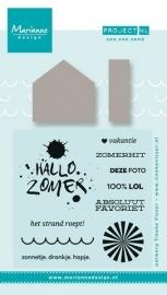 Marianne Design -  Stempel & Stencil Project NL - Zon, Zee, Zand