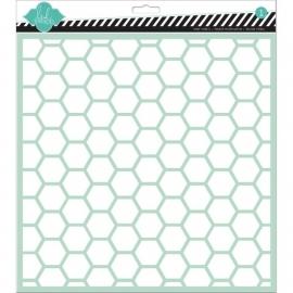 Heidi Swapp - Spray / achtergrondstencil - Hexagon - 30,5 x 30,5 cm