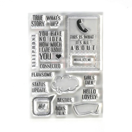 Elizabeth Craft Designs  -  Phone Booth Special Stamps - CS195