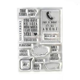 Elizabeth Craft Designs  -  Phone Booth Special Stamps - CS195