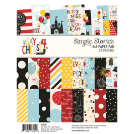 """Simple Stories -  Say Cheese 4 - Double-Sided Paper Pad 6""""X8""""- 24 vel"""