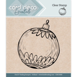 Card Deco Essentials - Clear Stamps - Christmas Ball