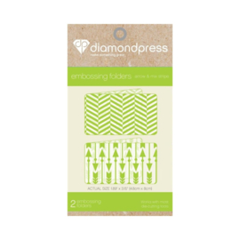 Diamond Press Embossing folder - Pijlen & Visgraat