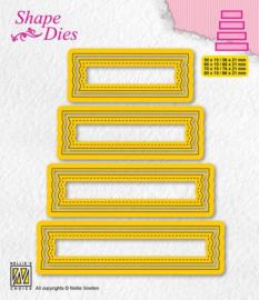 Nellies Choice - Shape Die - set van 4 tags - 2 SD203 80x15mm