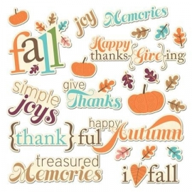 Happy Harvest Fall Phrases Word Die Cuts