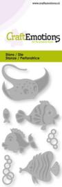 CraftEmotions - Die - Tropische vissen - Card 5x10cm