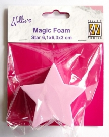 Nellies Choice Mixed Media Magic Foam star shape NMMF007 6,1cmx6,3cm thick 3cm