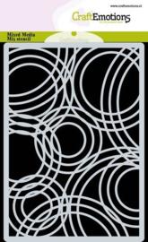 CraftEmotions - Mask stencil - achtergrond Triple cirkels- A6