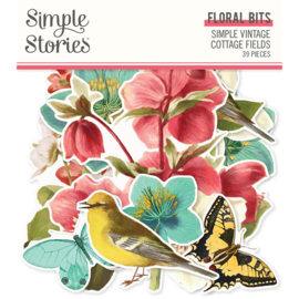 Simple Stories - Simple Vintage Cottage Fields -  Floral Bits & Pieces