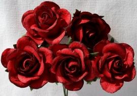 Trellis Roses - Deep Red