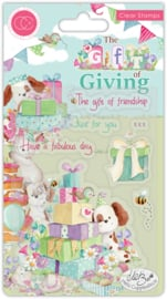 Craft Consortium - The Gift of Giving - Clear Stamps - The Gift