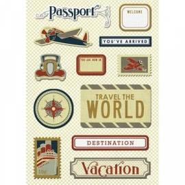 Imaginisce - Bon Voyage - Passport to Adventure Canvas Sticker