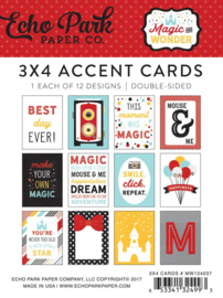 Echo Park Magic and Wonder 3x4  inch Accent Cards