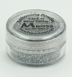 Mboss- - Embossing powder - Silver Glitter - 390111