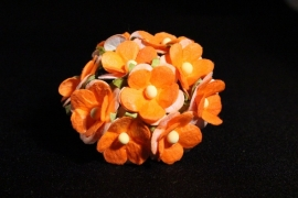 WILD ORCHID CRAFTS - SWEETHEART BLOSSOM 2-TONE ORANGE 15 mm - bosje met 10 stuks