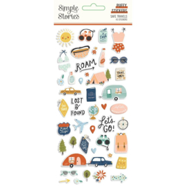 Simple Stories  - Safe Travels Puffy Stickers (14821)