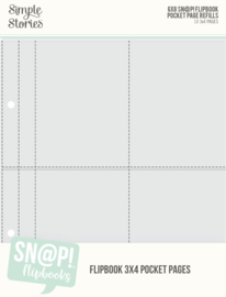 "Simple Stories - 3""x4"" Pack Refills 6""X8""SN@P! Flipbook Pages (10 stuks)"