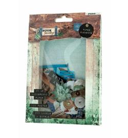 Studio Light - Die Cut Paper Set Contents Background Paper + Photos + Labels & Extras nr.645
