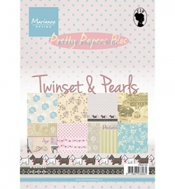 Marianne Design - Pretty Papers Bloc - Twinsets & Pearls