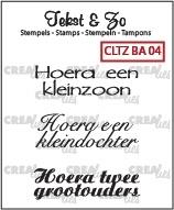 Crealies Clearstamp Tekst&Zo Baby 4 (NL) CLTZBA04