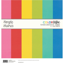 Simple Stories - Color Vibe Textured Cardstock 12x12 Inch Summer (15814)