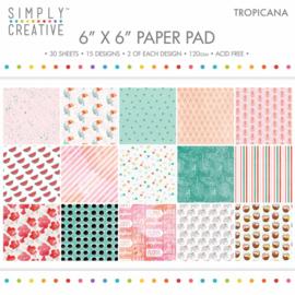 Simply Creative - 6x6 Inch Paper Pad - Tropicana