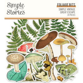 Simples Stories - Simple Vintage Great Escape - Foliage Bits & Pieces Die-Cuts 39 stuks