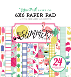 Echo Park -  Best Summer Ever -  6x6 Inch Paper Pad (15,2 x 15,2 cm)