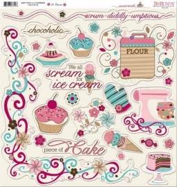 BoBunny - Sweet Tooth - Chipboard