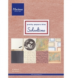 Marianne Design - Pretty Papers Bloc - Schooltime (A5)
