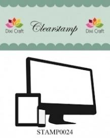 Dixi Craft - Clear Stamp - Computer
