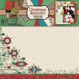 Hot Off The Press - Christmas Splender Paper Pack 30,5 x 30,5 cm
