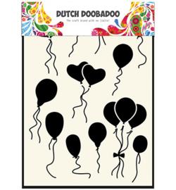 Dutch Doobadoo Dutch Mask Art stencil - Balloons Norm/Heart 5
