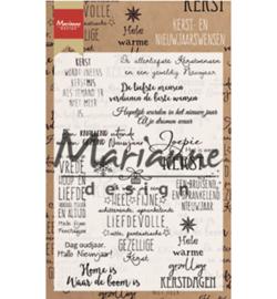 Marianne Design - Clearstamps - Teksten - Kerst- en nieuwjaarswensen