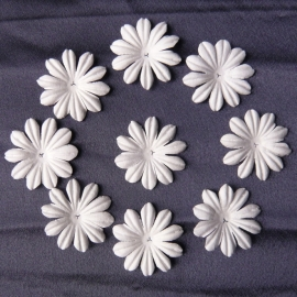 WILD ORCHID CRAFTS - MULBERRY PAPER BLOOMS - 20 stuks Wit 3,5 cm