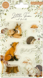 Craft Consortium - Little Fawn & Friends - Clear Stamps - Best Friends