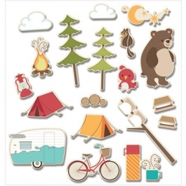 Happy Camper Camp Critter Icon Die Cuts