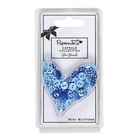 Papermania - Burleigh Blue - Mini Buttons