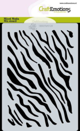 CraftEmotions - Mask stencil - tijger-zebra print - A6 - Carla Creaties