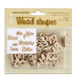 Leane Creatief - Wood Shapes - Words from the heart