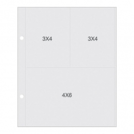 "Sn@p! 10 Pocket Pages For 6""X8"" Binders (3x4/4x6)"