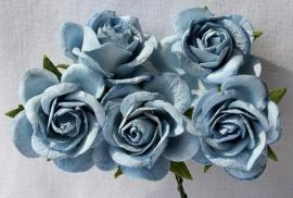 Trellis Roses - Steelblue